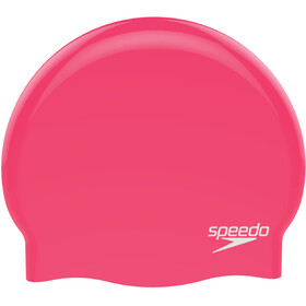 speedo Plain Moulded Siliconen Badmuts, red/white